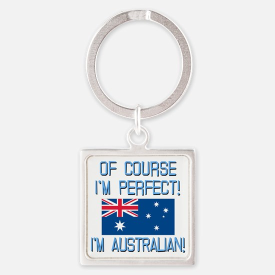Perfect Australian Square Keychain