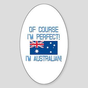Perfect Australian Sticker (Oval)