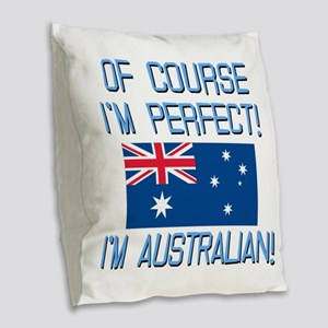 Perfect Australian Burlap Throw Pillow