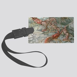 Vintage Lobsters Large Luggage Tag