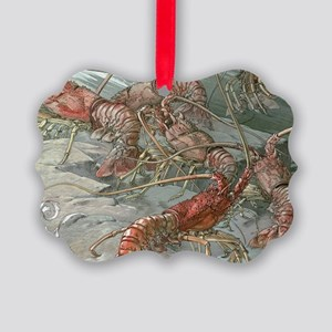 Vintage Lobsters Picture Ornament