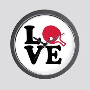 Table tennis love Wall Clock