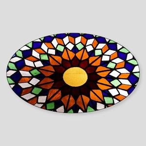 Church Art Sticker (Oval)