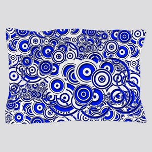 Blue Circle Art Pillow Case
