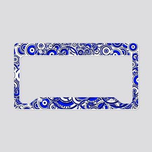 Blue Circle Art License Plate Holder
