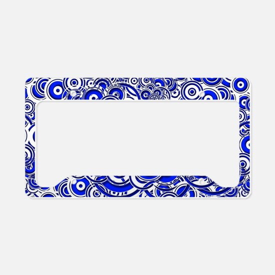 Blue Circle Art License Plate Holder