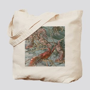 Vintage Lobsters Tote Bag