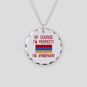 Perfect Armenian Necklace Circle Charm