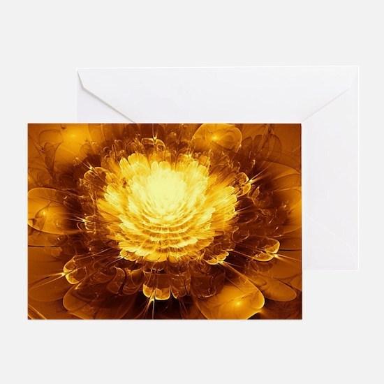 Golden Art Greeting Card