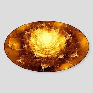 Golden Art Sticker (Oval)