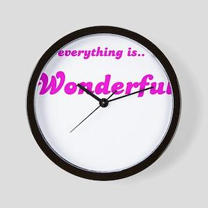 EVERYTHING IS WONDERFUL Wall Clock
