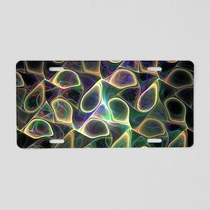 Fractal Art Aluminum License Plate