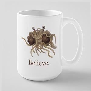 Flying Spaghetti Monster Believe Mugs