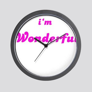 I AM WONDERFUL Wall Clock