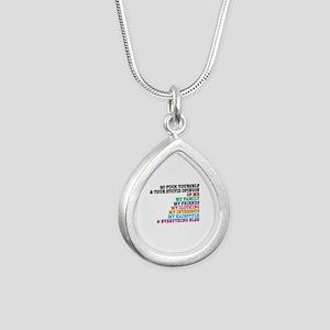 Go Fuck Yourself Silver Teardrop Necklace