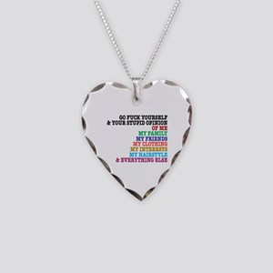 Go Fuck Yourself Necklace Heart Charm