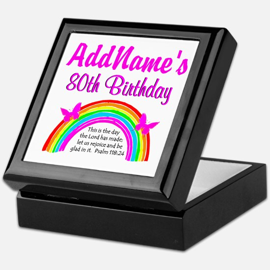 80TH RAINBOW Keepsake Box