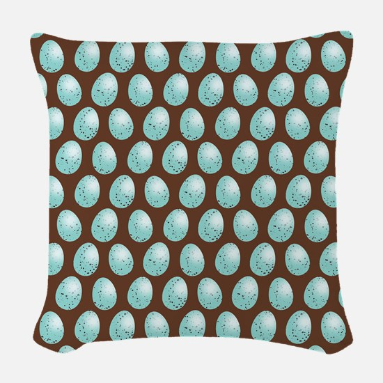Small Robin Egg Pattern Woven Throw Pillow