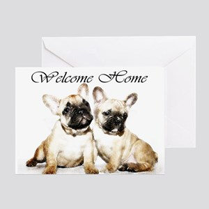 Welcome Home French Bulldogs Greeting Cards