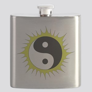 Yin Yang in front of the Sun - Flask