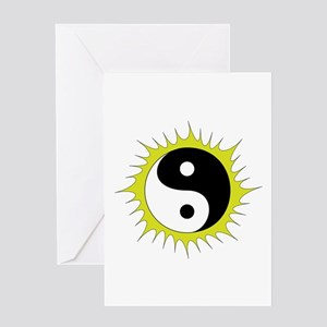 Yin Yang in front of the Sun - Greeting Card