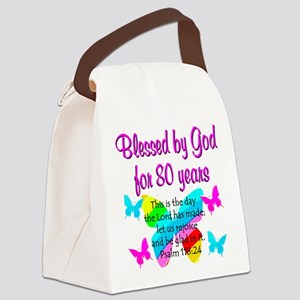 80TH PRAISE GOD Canvas Lunch Bag