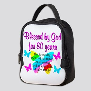 80TH PRAISE GOD Neoprene Lunch Bag