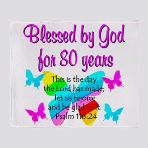 80TH PRAISE GOD Throw Blanket