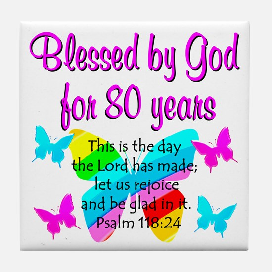 80TH PRAISE GOD Tile Coaster