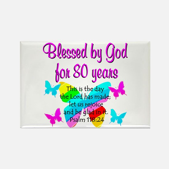 80TH PRAISE GOD Rectangle Magnet