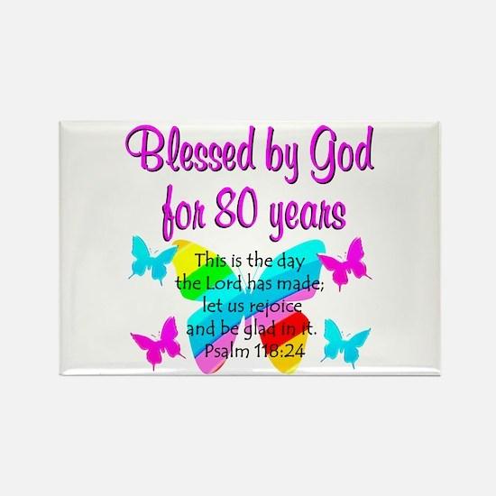 80TH PRAISE GOD Rectangle Magnet (10 pack)