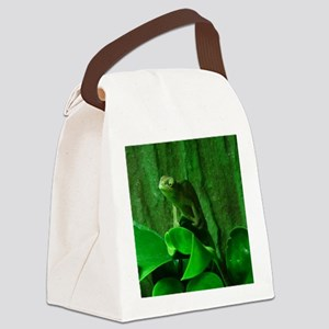 Green Reptil Canvas Lunch Bag