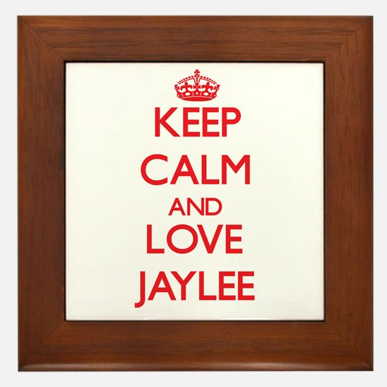 Keep Calm and Love Jaylee Framed Tile