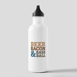Beer Bacon Baseball Stainless Water Bottle 1.0L