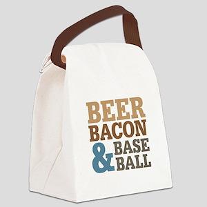 Beer Bacon Baseball Canvas Lunch Bag