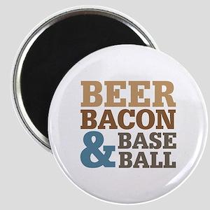 Beer Bacon Baseball Magnet