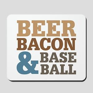 Beer Bacon Baseball Mousepad