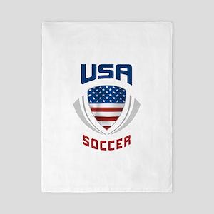 Soccer Crest USA blue Twin Duvet