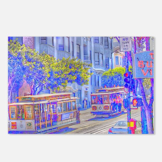 San Francisco neon effect Postcards (Package of 8)