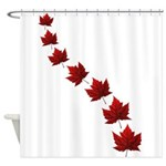 Canada Maple Leaf Souvenir Shower Curtain
