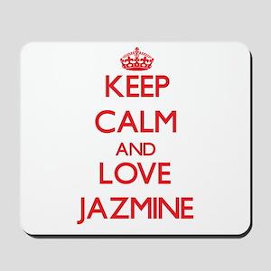 Keep Calm and Love Jazmine Mousepad