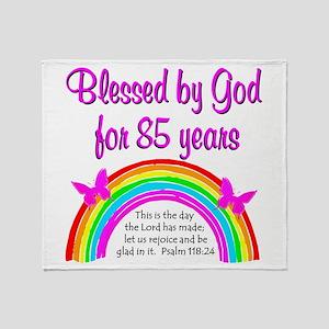 85TH RAINBOW Throw Blanket