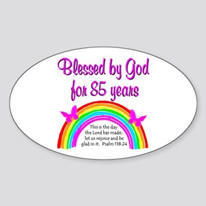 85TH RAINBOW Sticker (Oval)