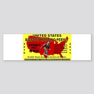 5x3rect_sticker_bigfoot Bumper Sticker