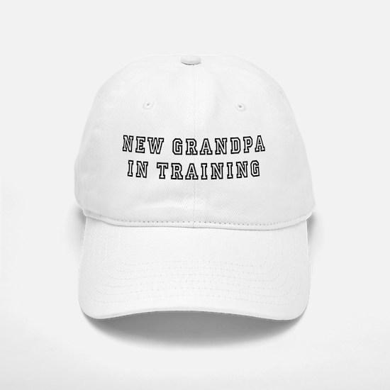New Grandpa In Training Baseball Baseball Cap