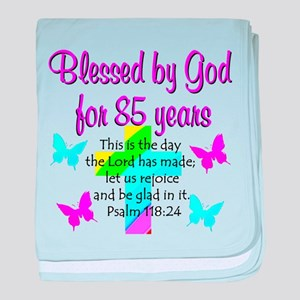 85th LOVE GOD baby blanket