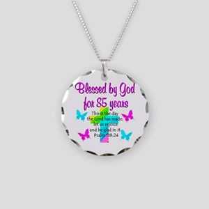 85th LOVE GOD Necklace Circle Charm