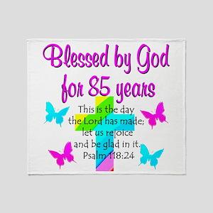 85th LOVE GOD Throw Blanket
