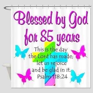 85th LOVE GOD Shower Curtain