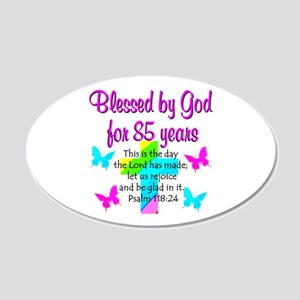 85th LOVE GOD 20x12 Oval Wall Decal